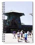 Visitors Heading Towards The Waterworld Attraction At Universal Studios Spiral Notebook