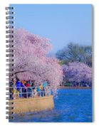 Visitors To The Blooms On The Basin Spiral Notebook