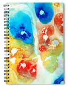 Vitality - Contemporary Art By Sharon Cummings Spiral Notebook