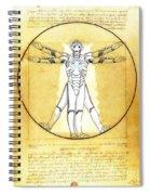 Vitruvian Cyberman Spiral Notebook