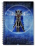 Vitruvian Cyberman In Deep Space  Spiral Notebook