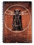 Vitruvian Cyberman On Mars Spiral Notebook