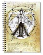 Vitruvian Dr Who Spiral Notebook