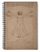 Vitruvian Man  Spiral Notebook