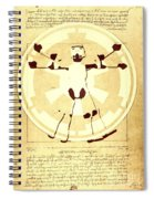 Vitruvian Stormtrooper Ghost Spiral Notebook