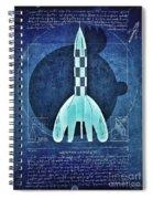 Vitruvian Tintin In Space Spiral Notebook