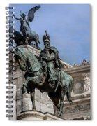 Vittorio Emanuele II Monument In Rome Spiral Notebook