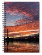Vivid Skyscape - Summer Sunset At Toronto Beaches Marina Spiral Notebook
