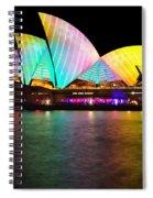 Vivid Sydney 2014 - Opera House 1 By Kaye Menner Spiral Notebook
