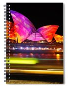 Vivid Sydney By Kaye Menner - Opera House ... Triangles Spiral Notebook