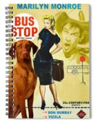 Vizsla Art Canvas Print - Bus Stop Movie Poster Spiral Notebook