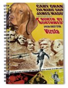 Vizsla Art Canvas Print - North By Northwest Movie Poster Spiral Notebook