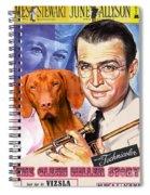 Vizsla Art Canvas Print - The Glenn Miller Story Movie Poster Spiral Notebook