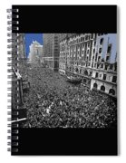 Vj Day Times Square New York City 1945 Color Added 2013 Spiral Notebook