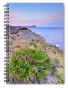 Volcanic Desert At Sunset Spiral Notebook