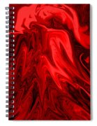 Red Volcanic Dreams Spiral Notebook