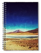 Volcano Lagoon Bolivia Vintage Spiral Notebook