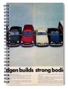 Volkswagen Builds Strong Bodies Eight Ways Spiral Notebook