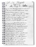 Voltaire Letter, 1740 Spiral Notebook