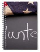Volunteer Sign On Chalkboard Spiral Notebook