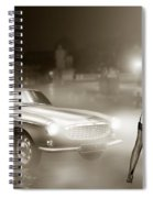 Volvo P1800 And Hot Detective Spiral Notebook