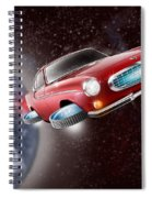 Volvo P1800 Goes Back To The Future Spiral Notebook