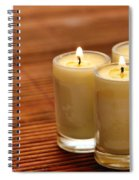 Votive Candle Burning Spiral Notebook