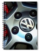Vw Gti Wheel Spiral Notebook