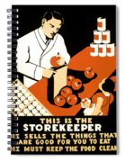 W P A  Food Hygiene Poster C. 1937 Spiral Notebook