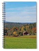 Wachusett Mountain From Harvard Ma Spiral Notebook