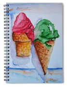 Wafer Or Waffle Cone Spiral Notebook