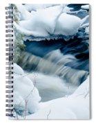 Wagner Creek In Winter Spiral Notebook