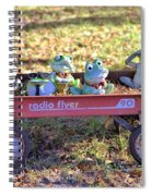 Wagon Full Of Frogs Spiral Notebook