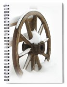 Wagon Wheel In Snow Spiral Notebook
