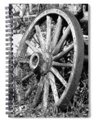 Wagon Wheel - No Where To Go - Bw 01 Spiral Notebook
