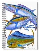 Wahoo Tuna Dolphin Spiral Notebook
