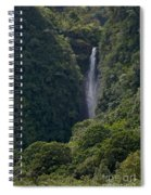 Wailua Stream Waiokane Falls View From Wailua Maui Hawaii Spiral Notebook