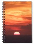 Waikiki Sunset No 3 Spiral Notebook