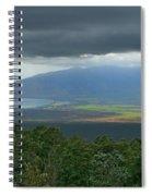 Waipoli Kula View Of West Maui From Haleakala Spiral Notebook