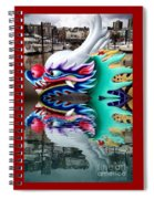 Waiting Dragon Reflect  Spiral Notebook