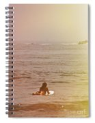 Waiting For A Wave Spiral Notebook