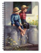 Waiting For Mama Spiral Notebook