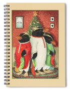 Waiting For Santa Claus Spiral Notebook