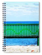 Waiting For Summer - The Green Bench Spiral Notebook