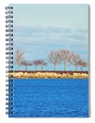 Waiting For Summer - Trees At The Edge Spiral Notebook
