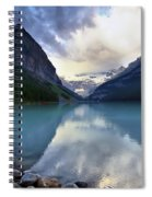 Waiting For Sunrise At Lake Louise Spiral Notebook