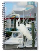 Waiting For The Boat Spiral Notebook