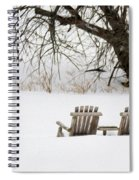 Waiting For The Right Season As An Oil Painting Spiral Notebook