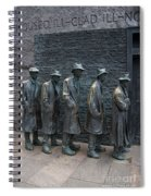 Waiting In Line Spiral Notebook