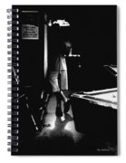 Waiting In The Shadows Spiral Notebook